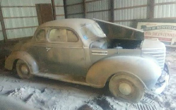 Parked Since 64 Dusty 1939 Plymouth Business Coupe
