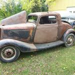 Hot Rod Potential 1934 Ford 3 Window Coupe