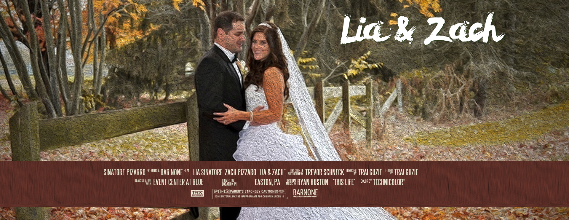 Movie Poster - Lia & Zach - Event Center at Blue Wedding Film