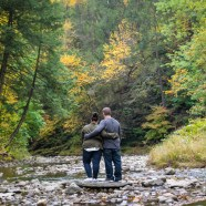 Kayla and Brandyn Engagement Photography at Jacobsburg Park
