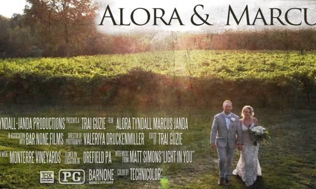 Alora & Marcus – Monterre Vineyards – Wedding Same Day Edit Reaction Video – Lehigh Valley PA