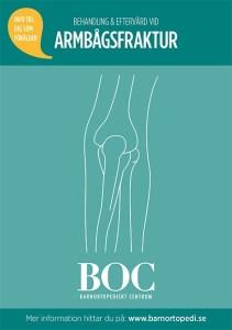 armbågsfraktur bryta armbågen gips behandling eftervård BOC barnortopedi barnortopediskt centrum