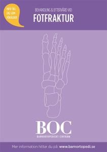 fotfraktur bryta foten gips behandling eftervård BOC barnortopedi barnortopediskt centrum