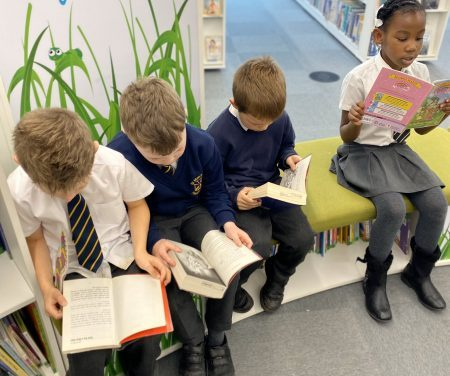 Year 2 visit the new library