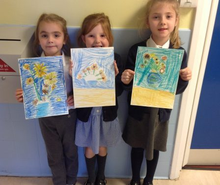 In year 2 we have been looking at the work of artist, Van Gogh.
