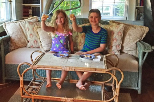 Cole and Olivia - Breakfeast at Barntucket - 8-6-15-1