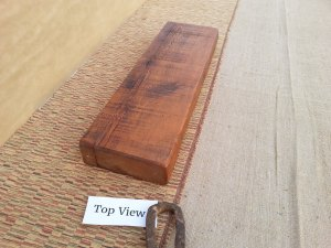 Reclaimed 1850s Barn Wood Floating Shelf- Three inch thick- Artisan Crafted- 2 feet long finished in Early American- BD1020