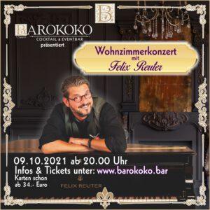 Wohnzimmerkonzert mit Felix Reuter im BARokoko in der Altstadt von Gotha