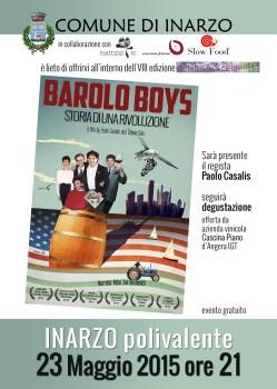 Locandina BaroloBoys 23mag2015 INARZO