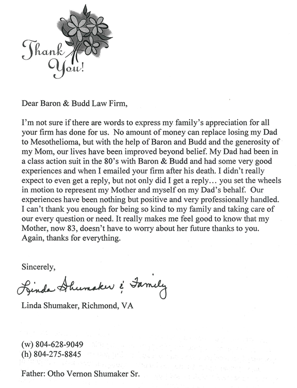 Letters & Testimonials from Our Clients