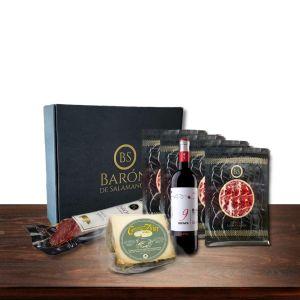 comprar cesta regalo gourmet con queso de oveja y jamon iberico