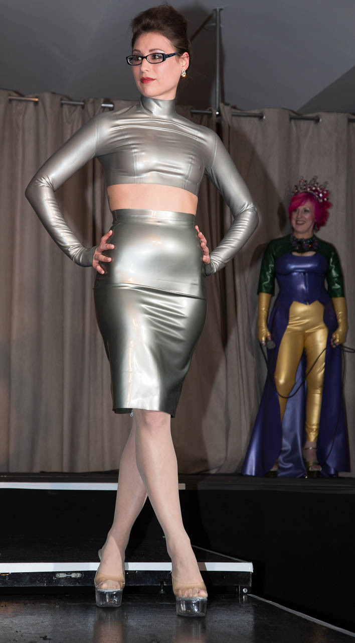 The Baroness Latex Fashion Show at Miss Rubber World 2013  Latex Rubber Clothing Fetish