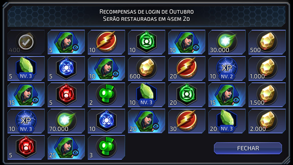 Checkin Outubro DC Legends