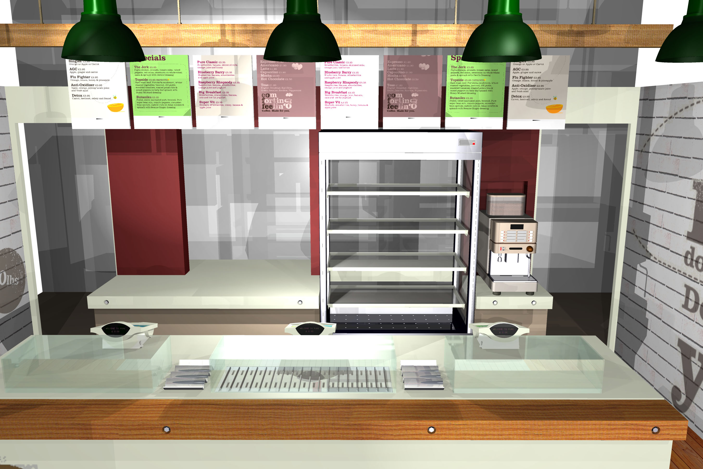 Fast Food  Boutique Take Away  Renders  IMAGINARIUM