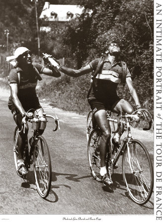 Bartali and Coppi sharing a drink, or perhaps not.