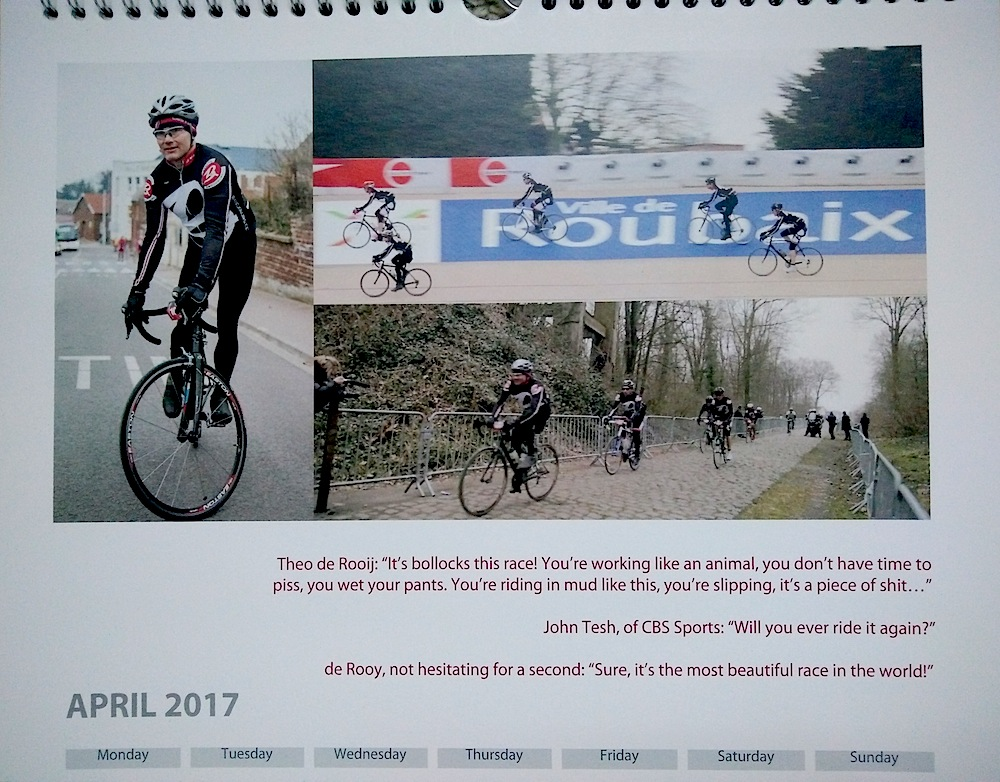 Baroudeurs Calendar 2017 April