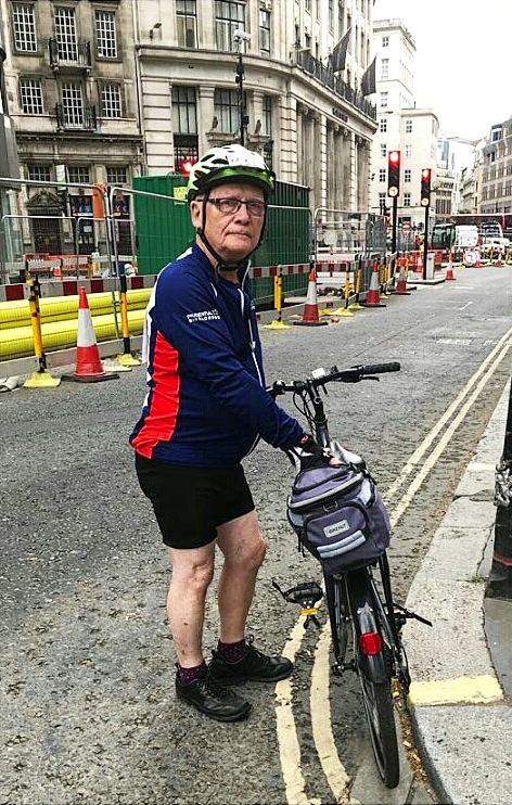 Malcolm 'Crazy Legs Senior' on the Ride100 in 2018