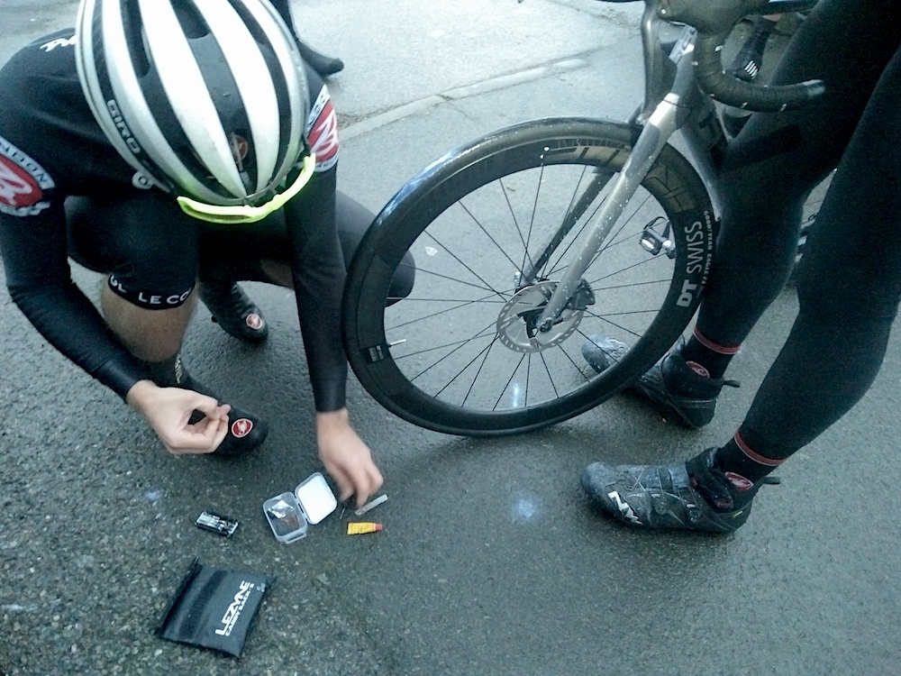 Dr. Orca and his tubeless-med kit