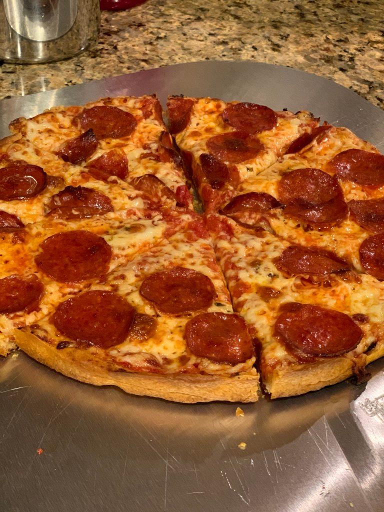 Homemade Pepperoni Bar Pizza