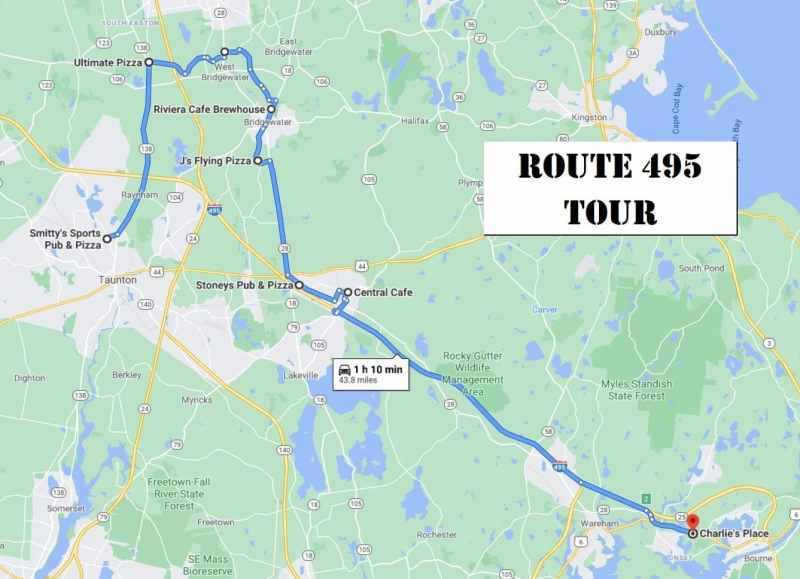 South Shore Bar Pizza Route 495 Map