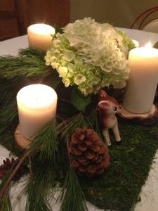Christmas Woodland Centerpiece