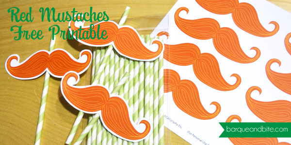 FREE Red Mustache Printable