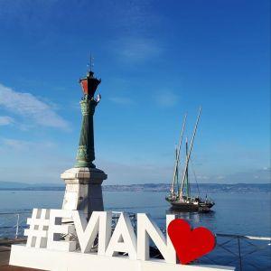 Promenades bateau lac Léman Evian