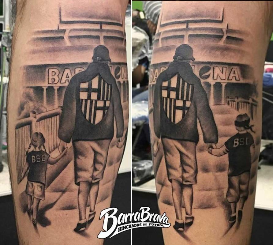 Tattoos Tatuajes Sur Oscura Barcelona Sporting Club