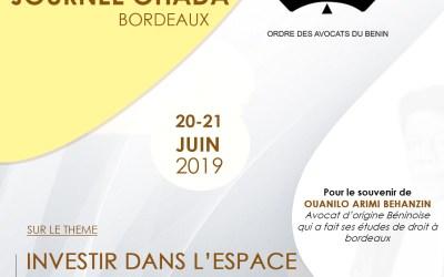 8ème Edition des Journées OHADA Bordeaux  du 20 au 21 juin 2019 à Bordeaux