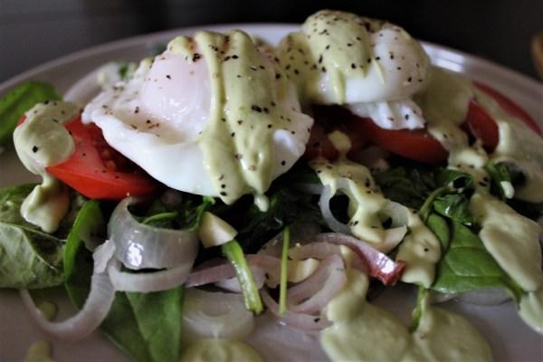 Comparison - Eggs Florentine Avocado Hollandaise