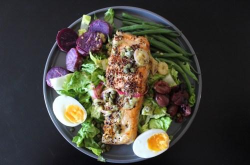 Visualization and Visually Appealing Salmon Nicoise Salad