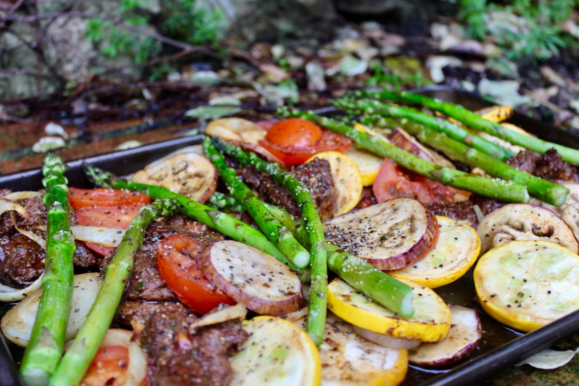 Whole30 Jamaican Jerk Steak and Veg Sheet Pan - Breaking up with bad habits