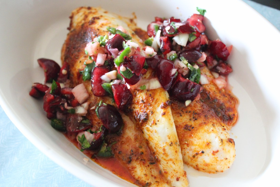 What Went Well - Whole30 Blackened Tilapia and Cherry Salsa