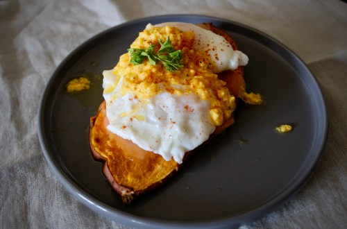 WTH Effect - Whole30 Smoked Salmon Stack on Sweet Potato Toast