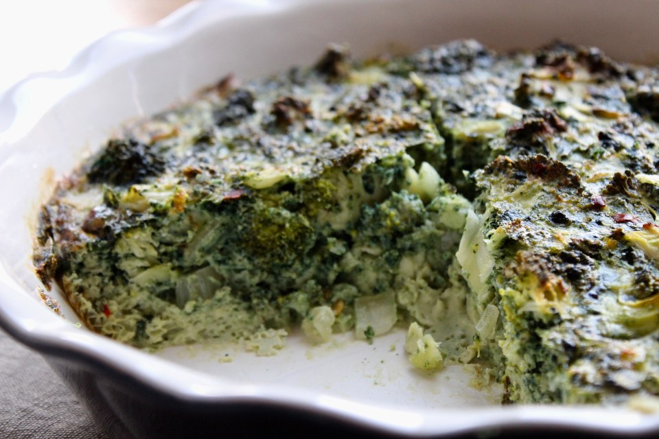 "Learn to Flourish - Whole30 Broccoli ""Cheese"" Frittata"