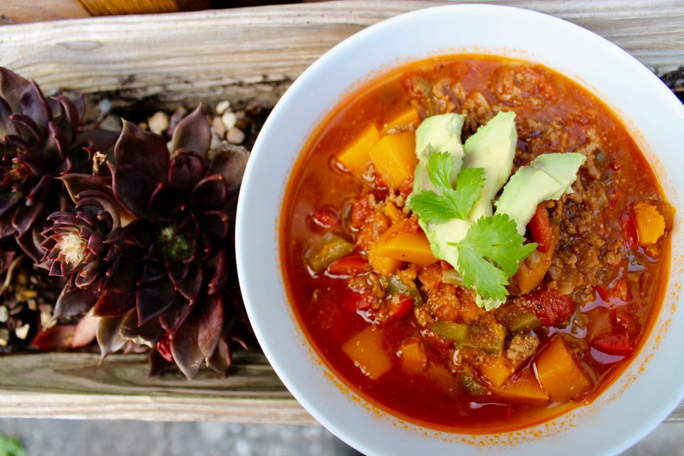 how what we eat affects everything else - foundational habits, Whole30 Pumpkin Chili