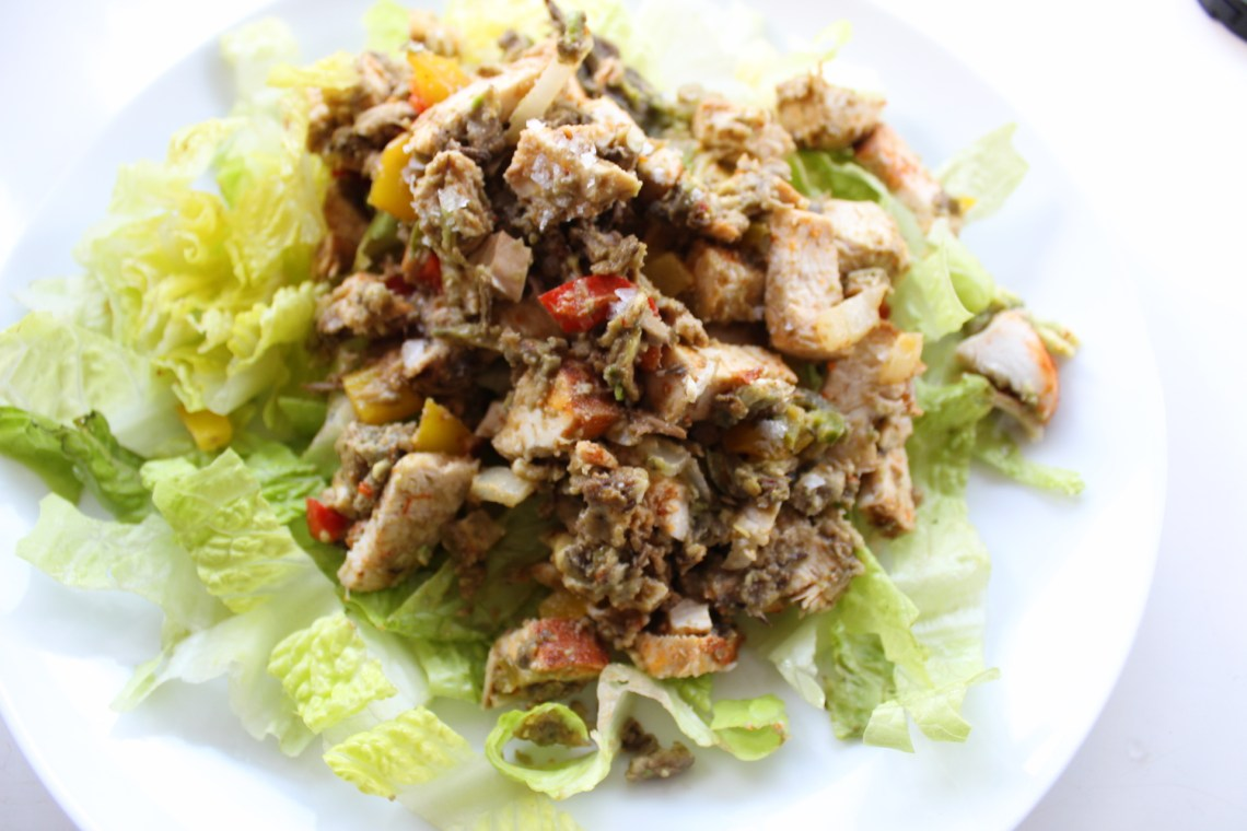 Seasons of Stress - Whole30 Fajita Chicken Protein Salad