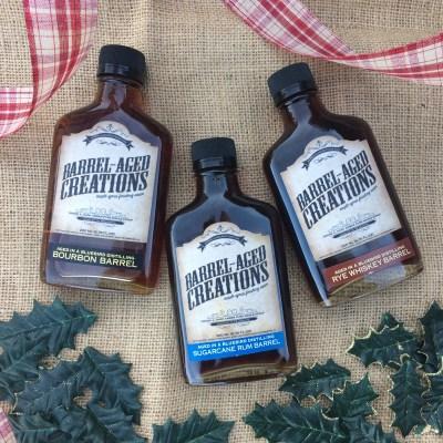 gift set of gourmet syrups, barrel aged maple syrup gift set, bourbon barrel aged maple syrup, whiskey barrel aged maple syrup, rum barrel aged maple syrup, bourbon maple, maple bourbon, bourbon syrup, whiskey maple, maple whiskey, rum maple, maple rum, finishing sauce, glaze