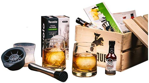 old fashioned cocktail kit gift set, barrel aged creations, bourbon inspired gifts for men