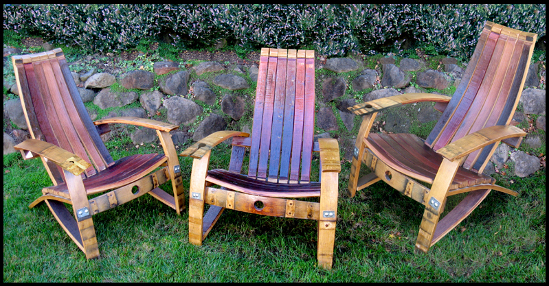 adirondack wine barrel chairs folding chair attached to wall concepts furniture tables from french oak staves