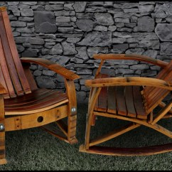 Adirondack Chair With Ottoman Plans Bean Bag Kmart Barrel Concepts Wine Furniture Chairs Tables