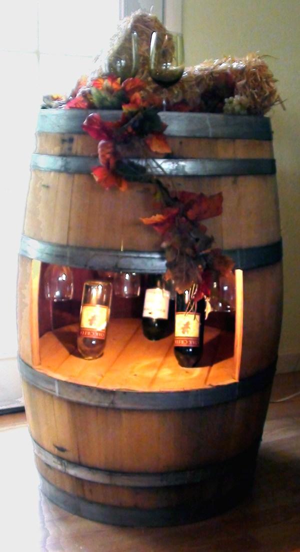 Wine Barrel Display