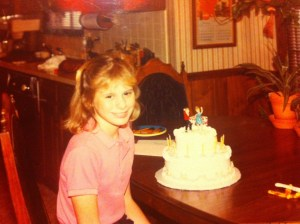 My first birthday following my hysterectomy - 1983.
