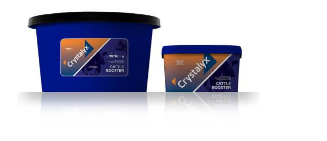 Bucket of Crystalyx cattle booster