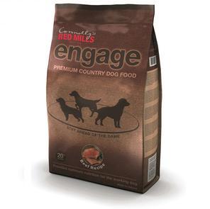 Bag of Engage beef dog food