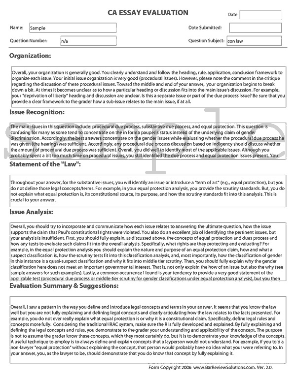 February 2017 California Bar Exam Essay & Performance Test