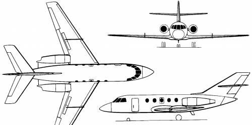 Dassault Mystère/Falcon 20 & 200, pictures, technical