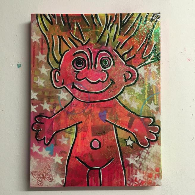 """Reprise"" by Barrie J Davies 2016, mixed media on canvas, 25cm x 35cm"