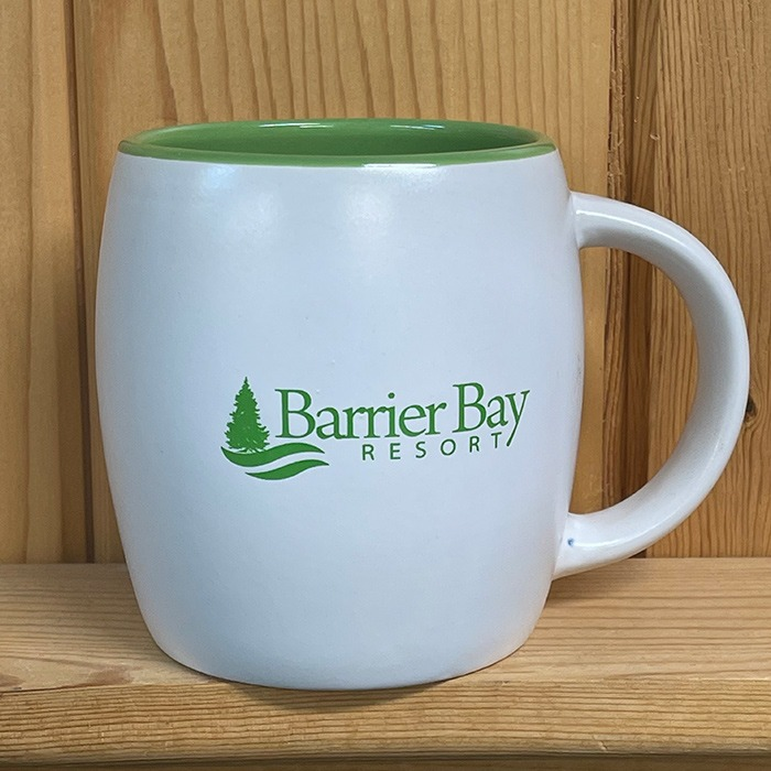 Barrier Bay Resort Green Mug
