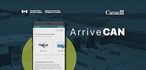 ArriveCAN App promotional display.